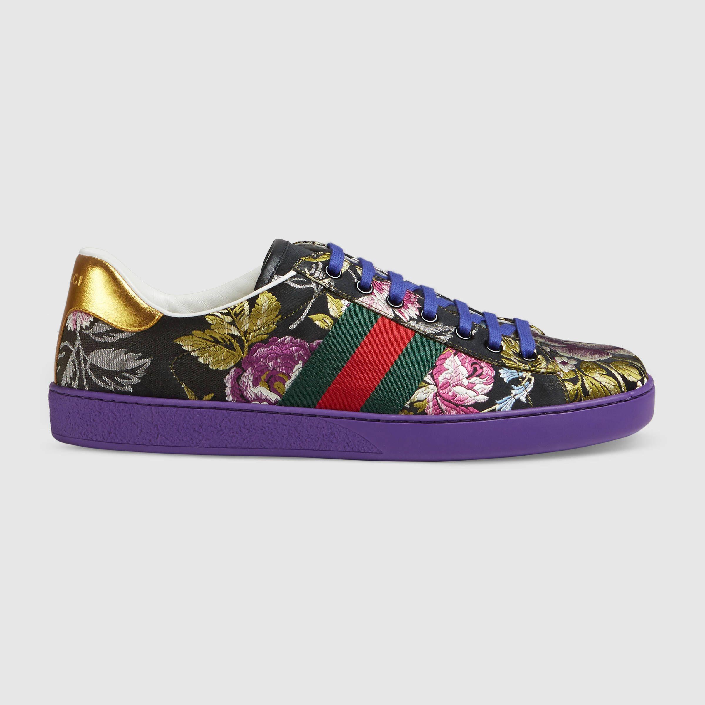 Gucci Floral jacquard sneaker | Gucci
