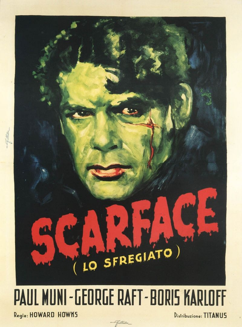 Paul Muni gave a powerful performance in Scarface (1932 ...