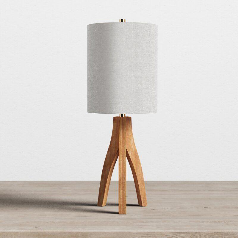 Liara 27 Tripod Table Lamp Reviews Allmodern Tripod Table Lamp Table Lamp Wood Wooden Table Lamps