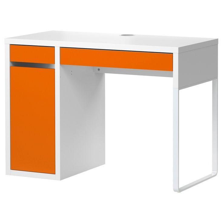 Ikea Micke Desk White Micke Desk White Orange Ikea Love This Ikea Desk Boys Desk Ikea Kids Desk