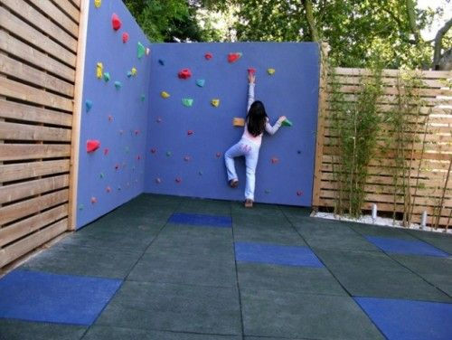 A rock climbing wall is not the simplest project, but the idea here is to  consider adding something your children can climb on. If your budget won't  allow a ... - A Rock Climbing Wall Is Not The Simplest Project, But The Idea Here