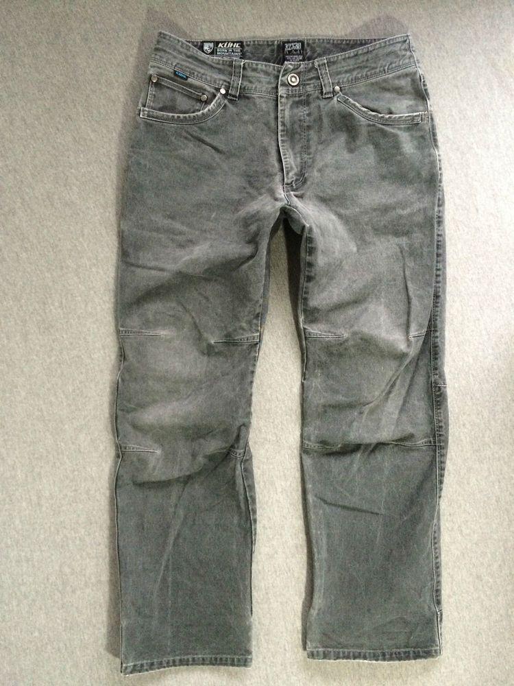 df5e4ce17f6 KUHL Pants RYDR Vintage Patina Dye Charcoal Men s 32x30 Exellent!  Kuhl   outdoorgear