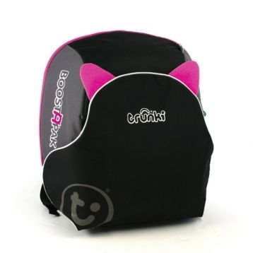 Trunki: Innovative travel backpack transforms into booster seat for planes, rental cars, and taxi rides!  Seen on BBC's Apprentice.  About $70.00