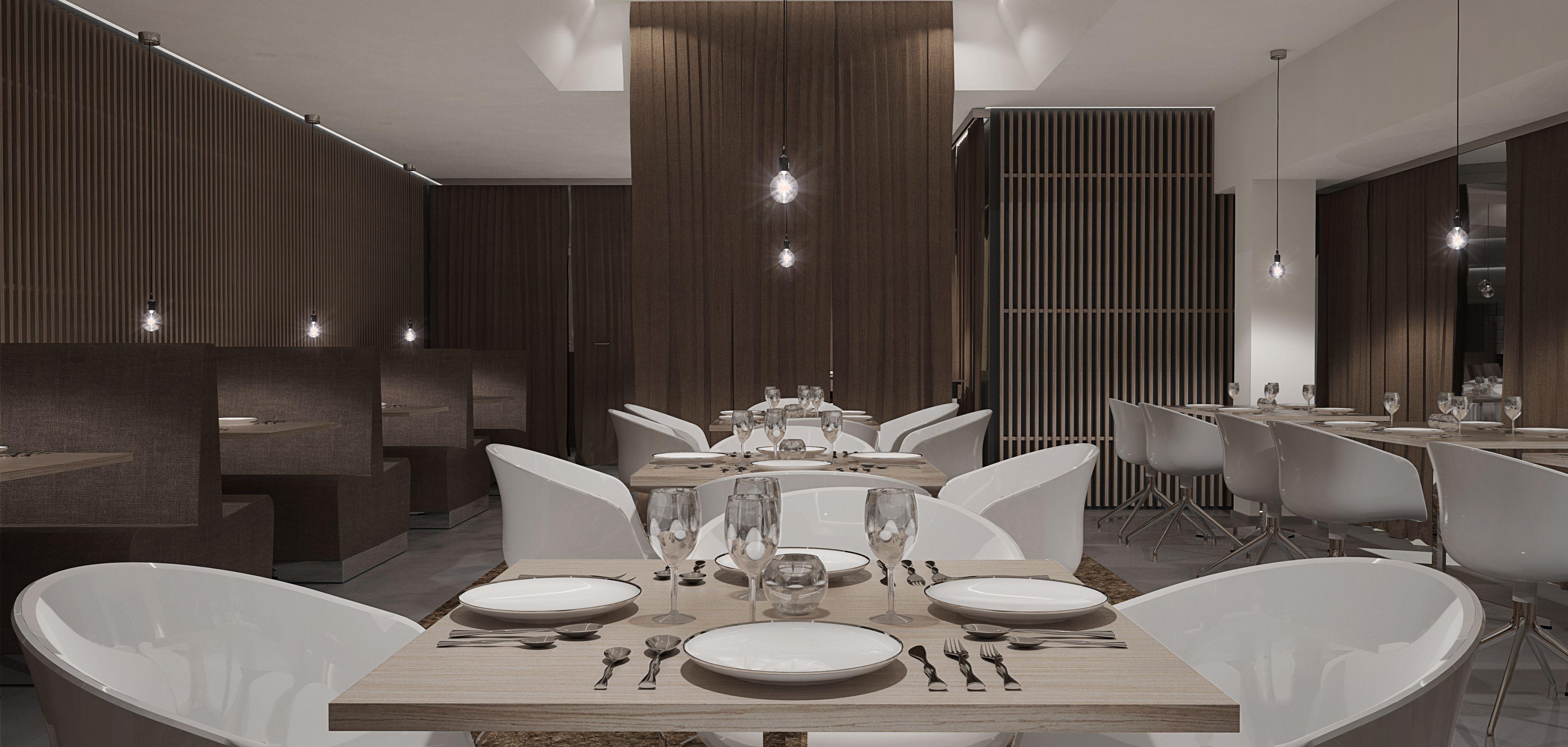 Planung eines italienischen Restaurants. Ausführung und Umbau durch Schuster Innenausbau