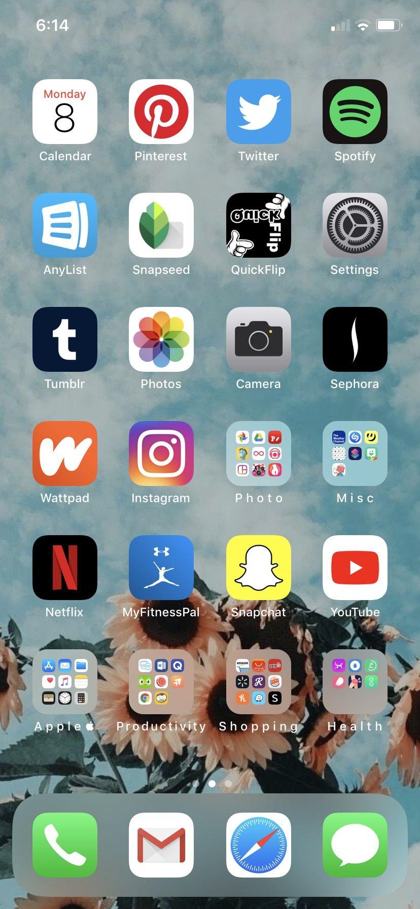 Pin By Sara Galarza On Iphone Organization Homescreen Iphone Iphone Organization Ios App Iphone