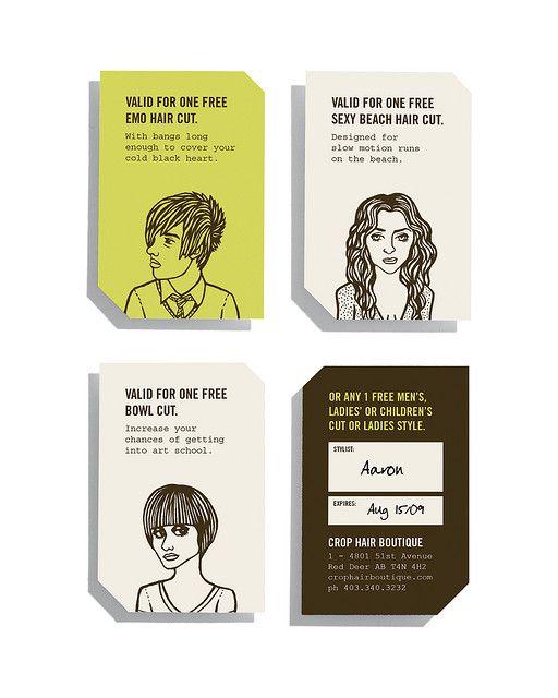hair salon promo cards