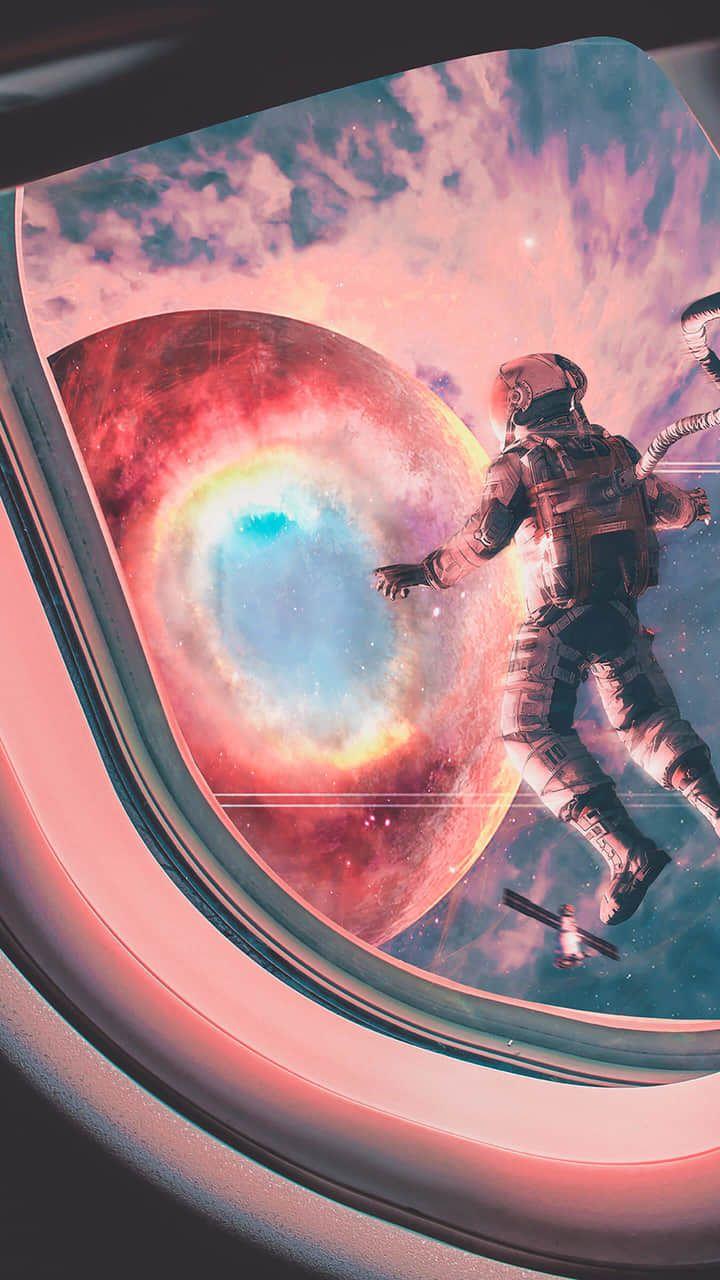 Space walk by : karan jain on We Heart It