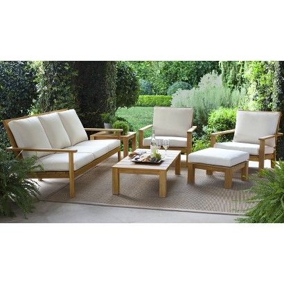 Smith Hawken Premium Quality Solenti Teak Lounge Collection