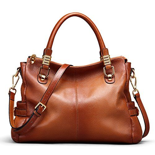 85def6a552 SALE PRICE -  78.99 - BIG SALE-AINIMOER Womens Genuine Leather Vintage Tote  Shoulder Bag Top-handle Crossbody Handbags Large Capacity Ladies  Purse