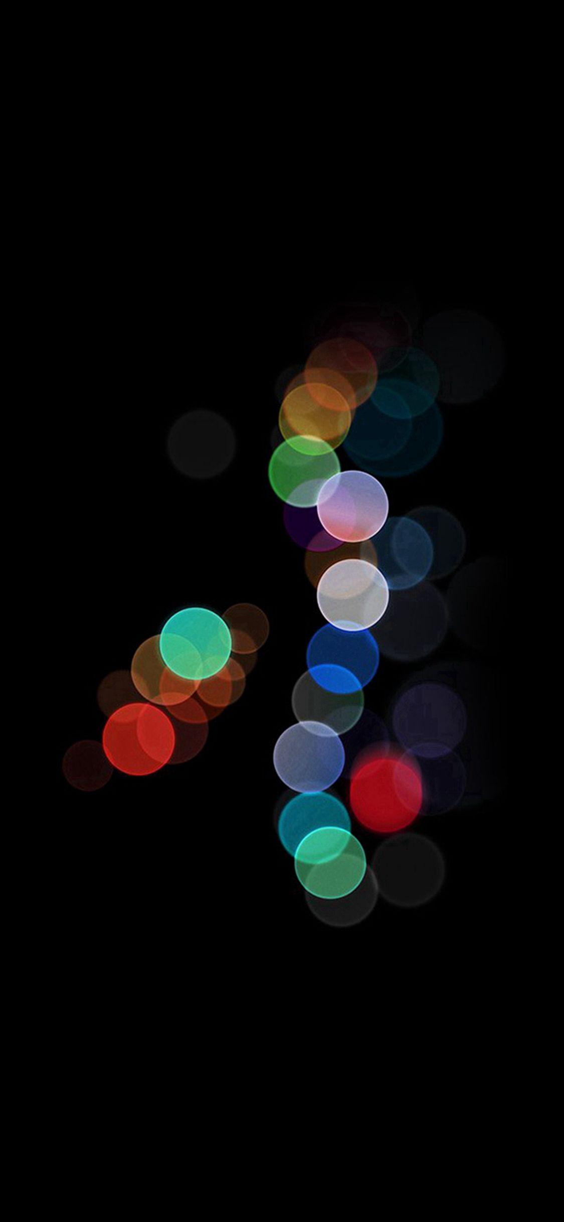 Apple Bokeh Dark Rainbow Art Illustration IPhone X