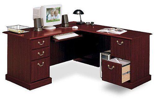 Bush Saratoga L Shaped Computer Desk By Bush Industries Inc