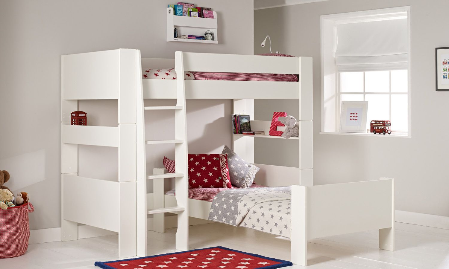 Aztec Kids Bunk Beds In White Timber With Yellow And Red Patterned Linen  And Décor. Available At Forty Winks. | KIDS BEDROOM SUITES | Pinterest |  Double ...