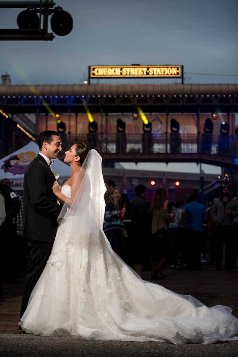 Blush and Purple Ballroom at Church Street Wedding - Downtown ...