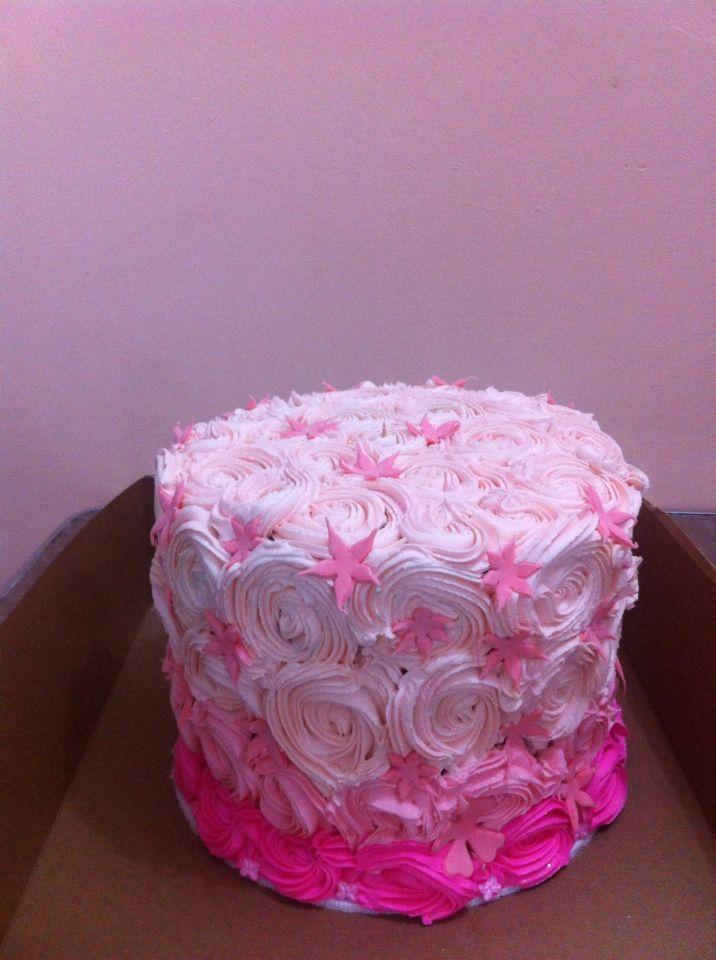 Torta en Crema rosado degrade