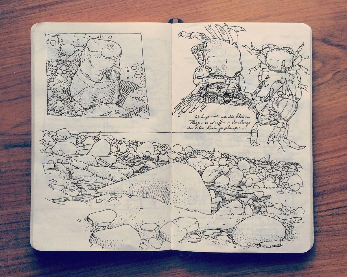 2014 Sketchbook Art by Jared Muralt