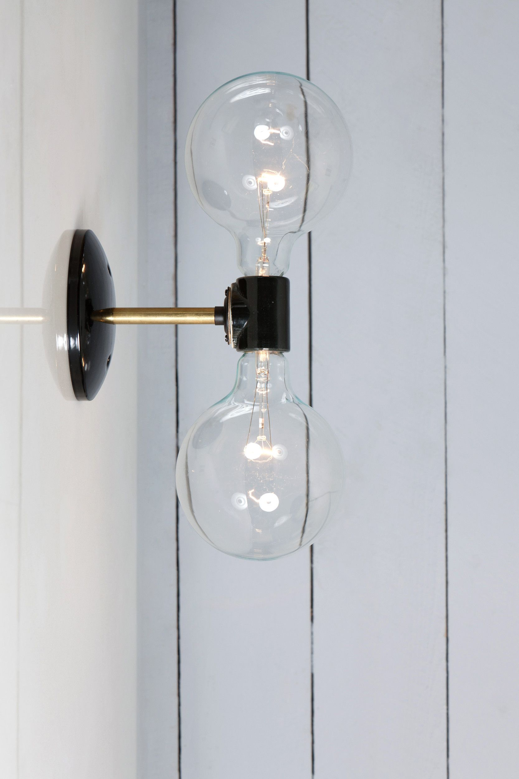 Double Br Wall Sconce Light Bare Bulb Lamp In 2019
