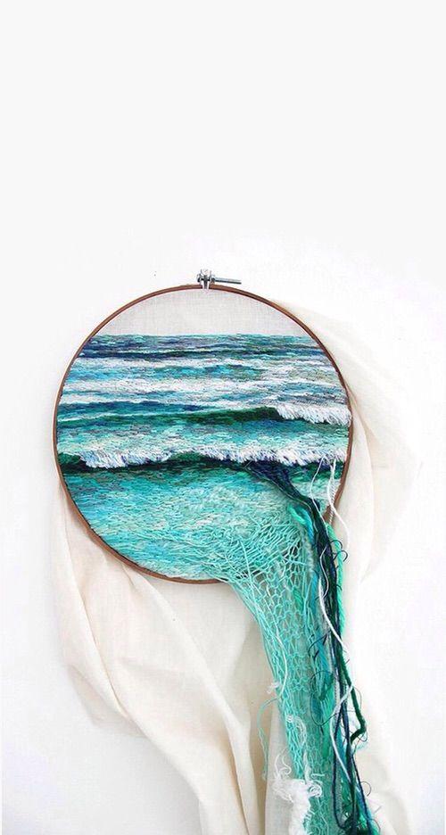 Image via We Heart It https://weheartit.com/entry/137548886 #blue #blueshades #ocean #sea #simulation #weaving #loom