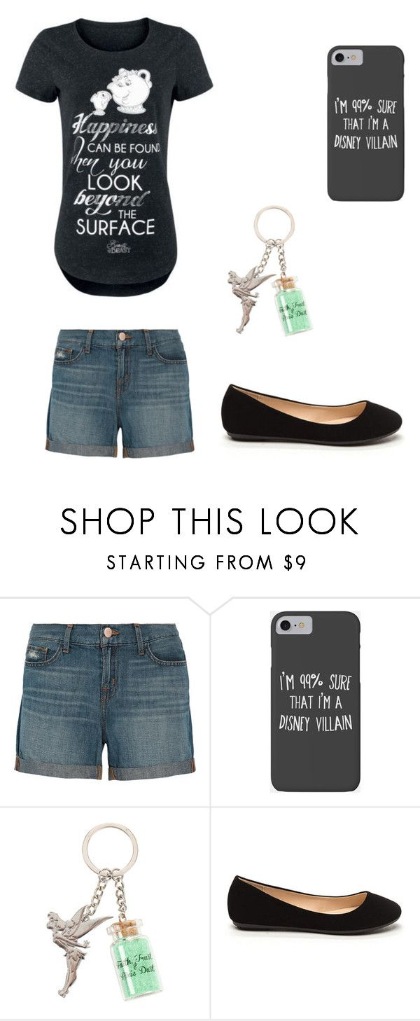 """""""Piece of Disney Trash"""" by the-disney-is-strong-with-me ❤ liked on Polyvore featuring J Brand, Disney, mylife and alldayeveryday"""
