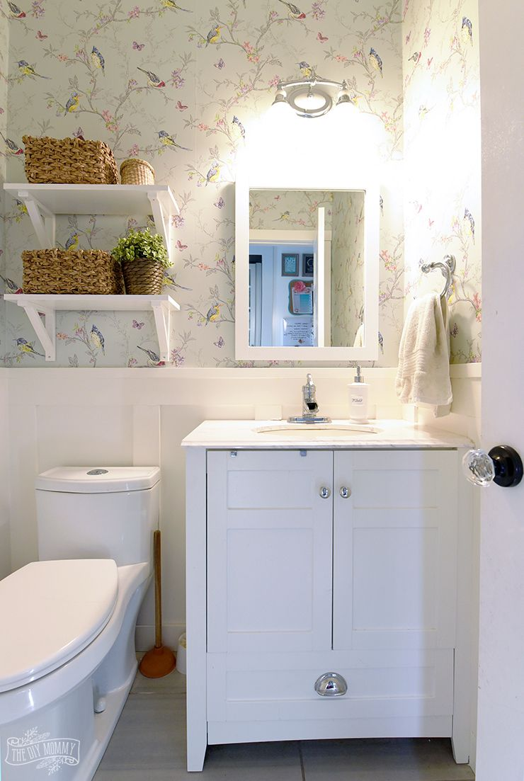 Small Bathroom Powder Room Organization Ideas | Home ideas ...