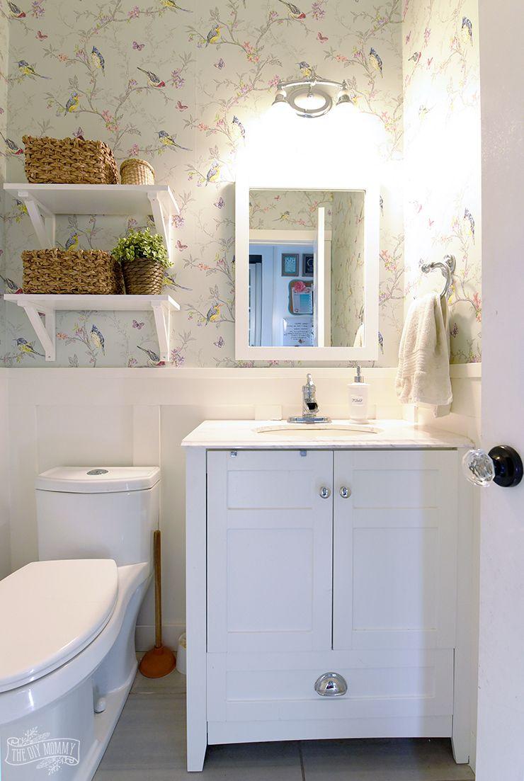 Small Bathroom Powder Room Organization Ideas | Home ideas ...