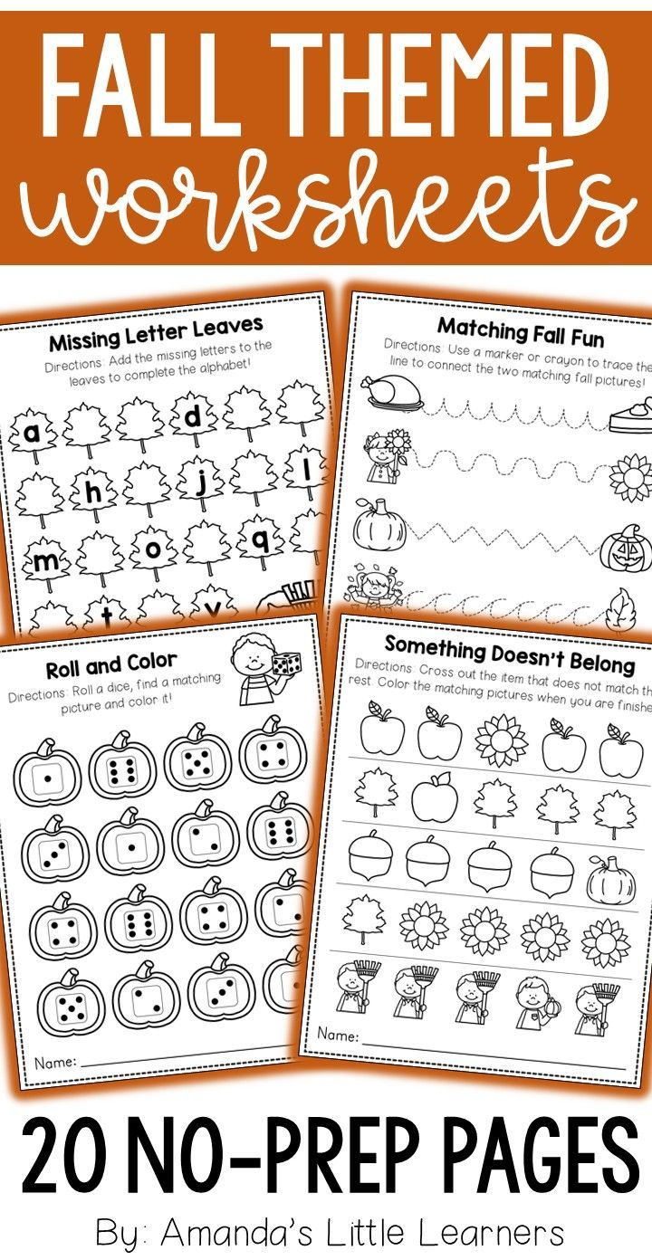 Worksheets Letter Identification Worksheets fall worksheets no prep math and literacy pinterest these practice important skills such as number letter identification counting tracing beginning sounds