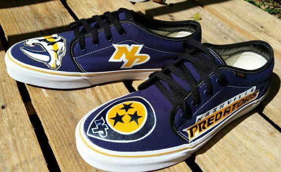 Nashville Predators Forsberg Vans Hand Painted Custom Shoes Nashville Predators Nashville Predators Hockey Nashville