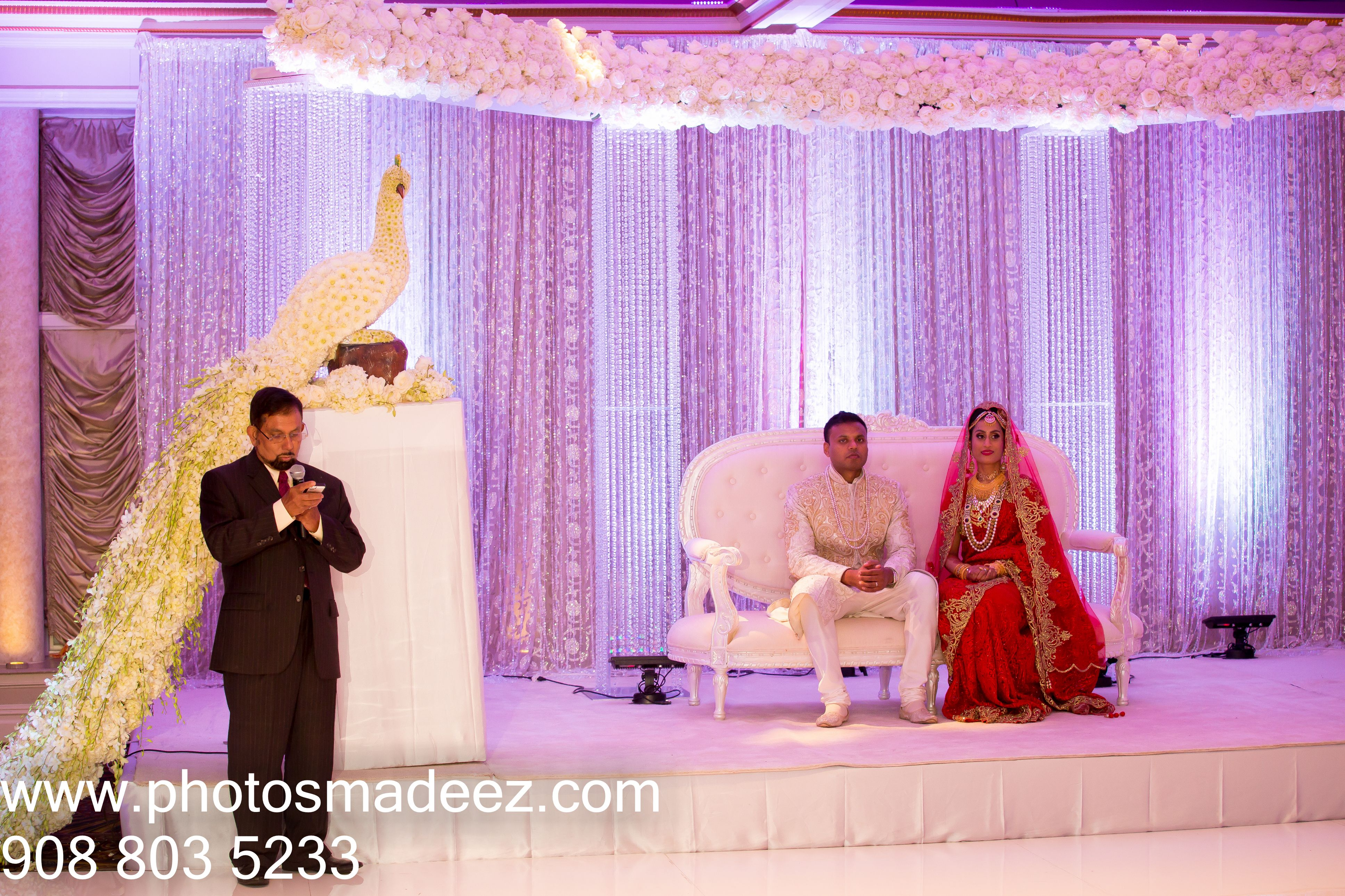 Reception Decor by Elegant Affairs for Bangladeshi Wedding ...