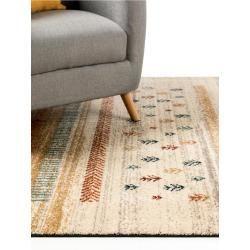 benuta short pile carpet Kamal blue / orange 120x170 cm - Modern carpet for living room benuta#120x170 #benuta #blue #carpet #kamal #living #modern #orange #pile #room #short