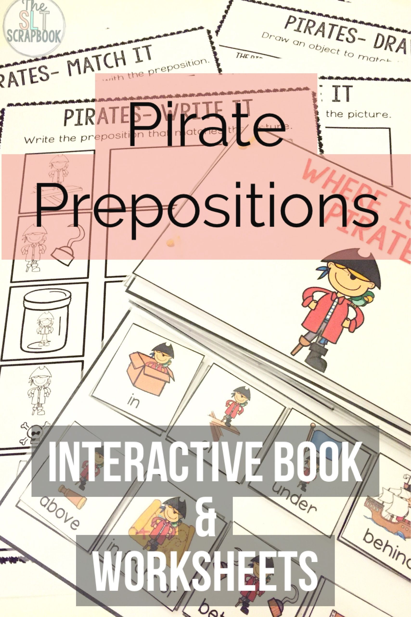 Pirate Themed Prepositions Book Interactive Book And