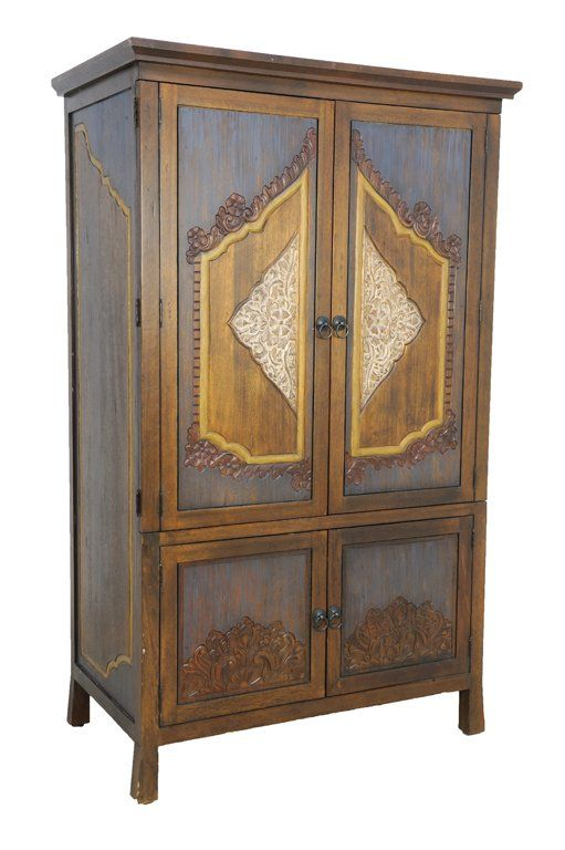 Beau A PROVINCIAL THAI STYLE ARMOIRE STORAGE CABINET : Lot 219