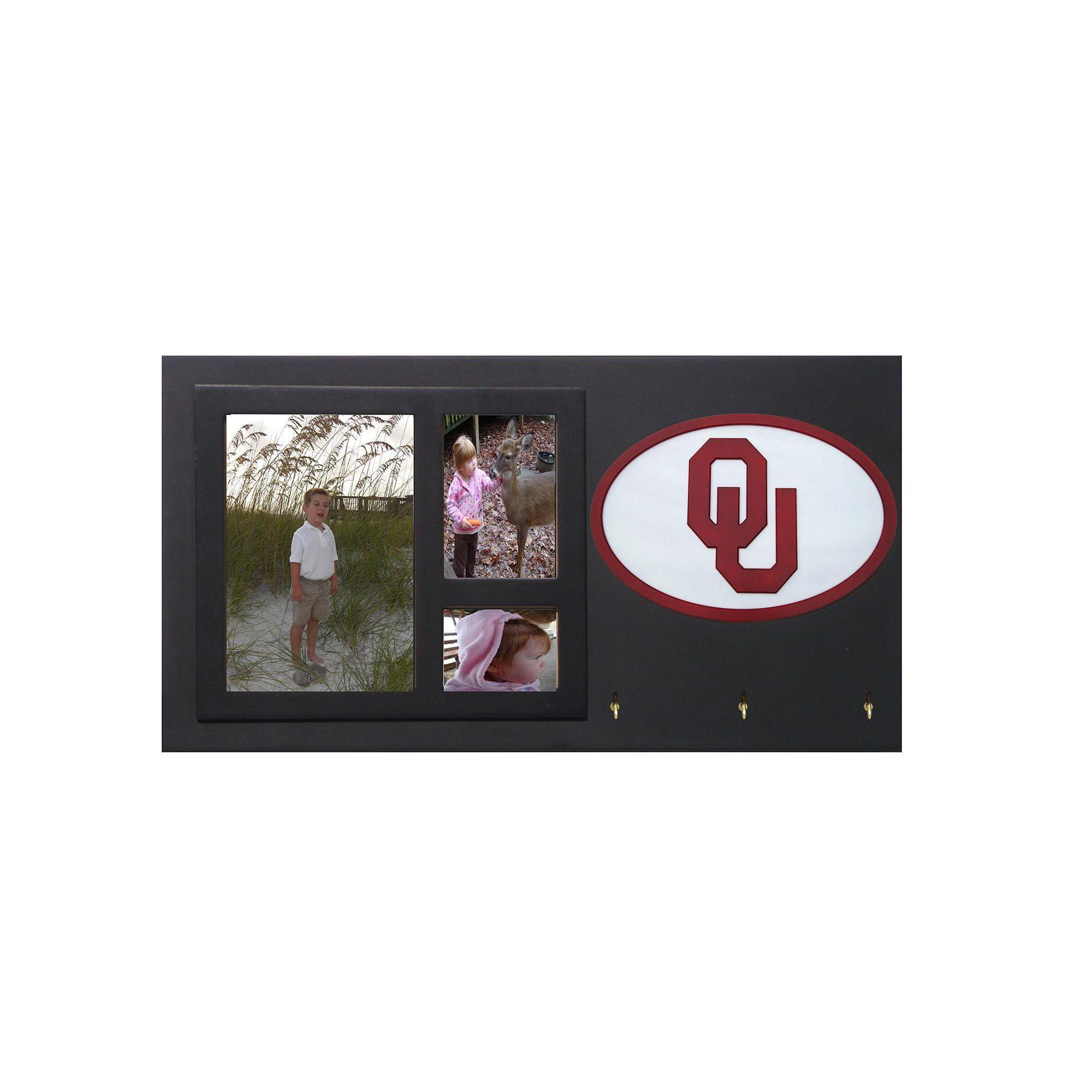 Oklahoma Sooners Key Hook Collage Frame, Multicolor   Oklahoma ...