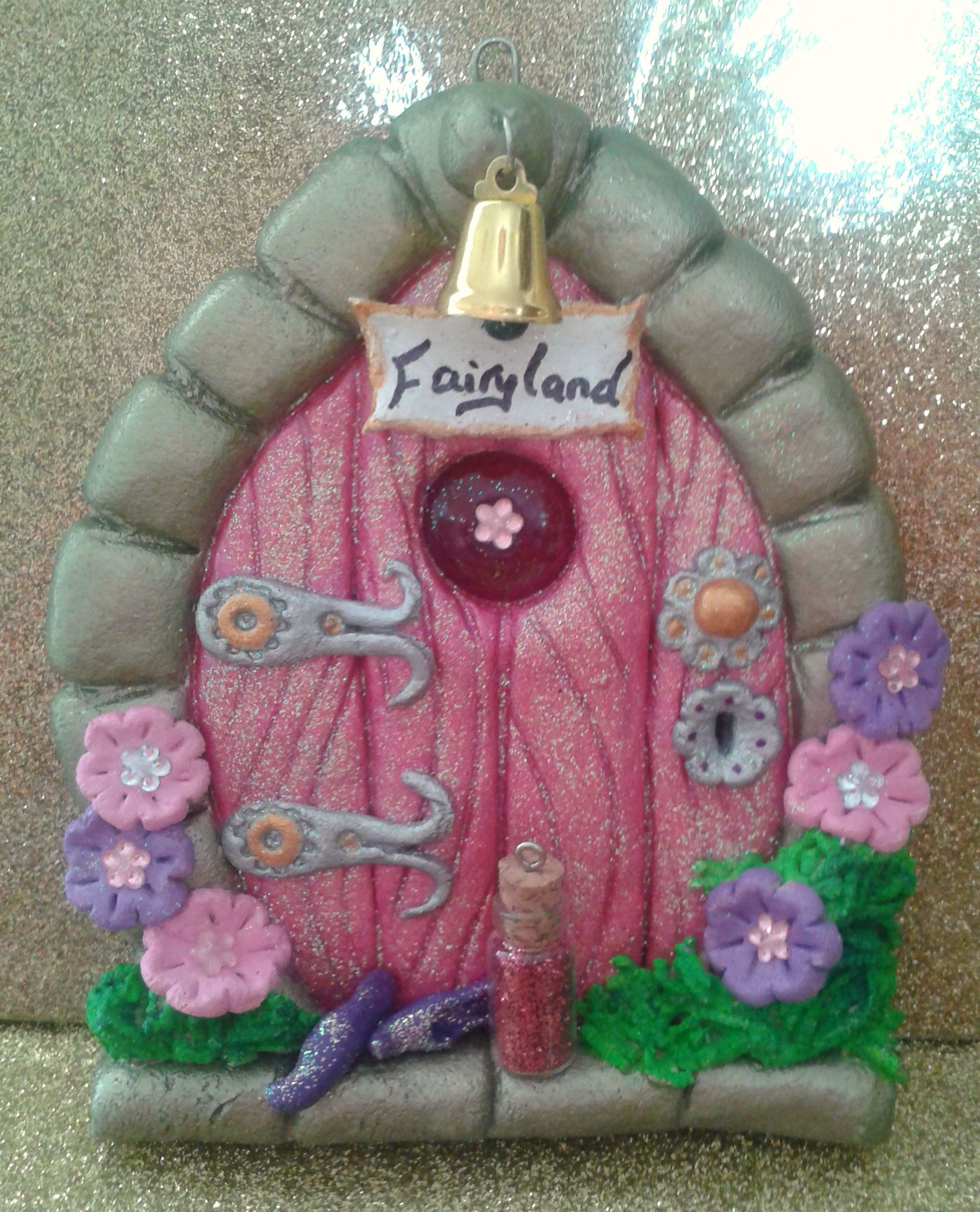 On etsy and salt dough fairy door for Idea behind fairy doors