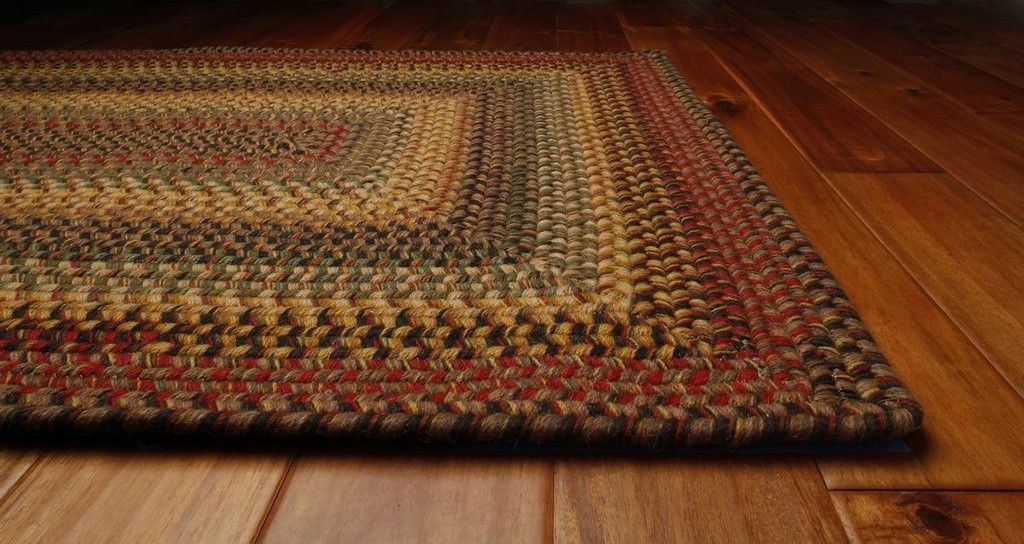 Budapest rectangle wool braided rug 4x6 measures 4x6