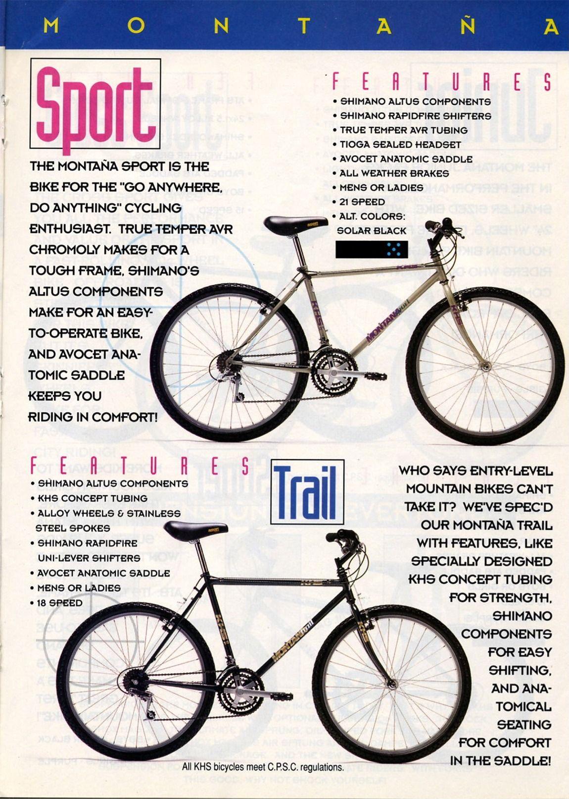 1993 Khs Bicycles Catalog Bicycle Tioga Altus