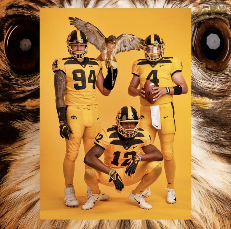 Iowa Hawkeyes Gold Uniform With Images Iowa Football Iowa Hawkeye Football Iowa Hawkeyes