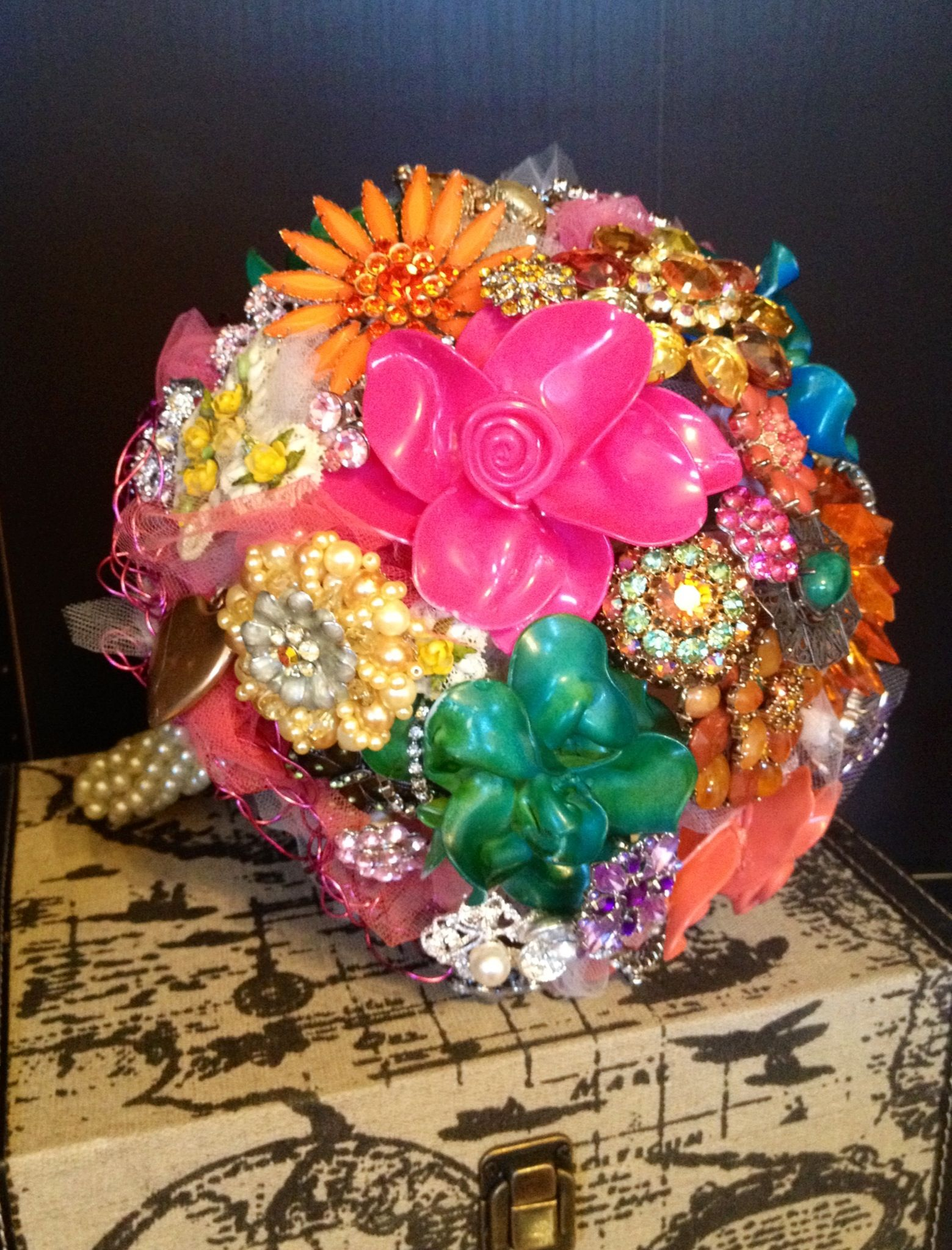 Loved Making This Crazy Brooch Bouquet With Spoon Flowers So Fun
