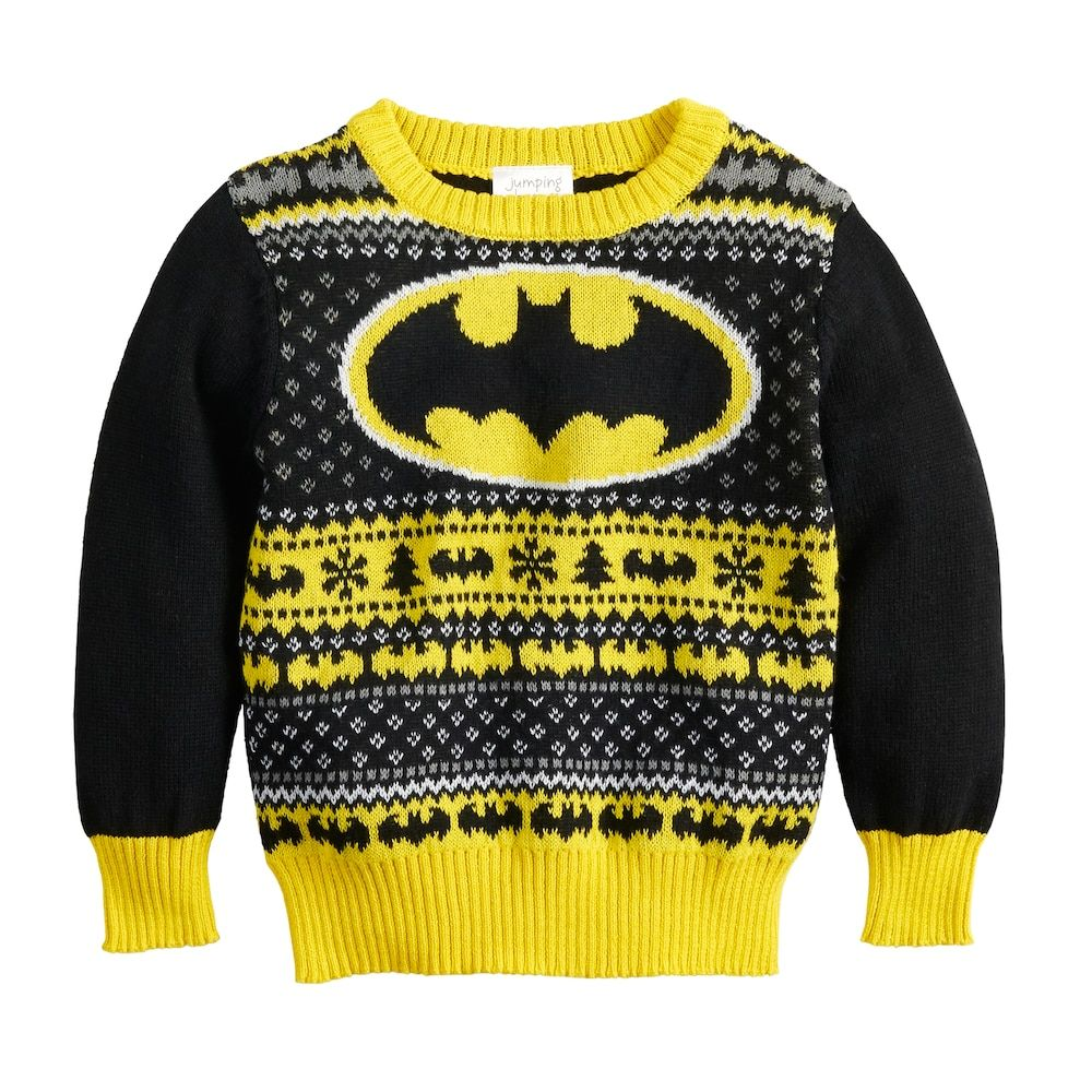 Boys Batman Sweatshirt Jumper Top DC Comics