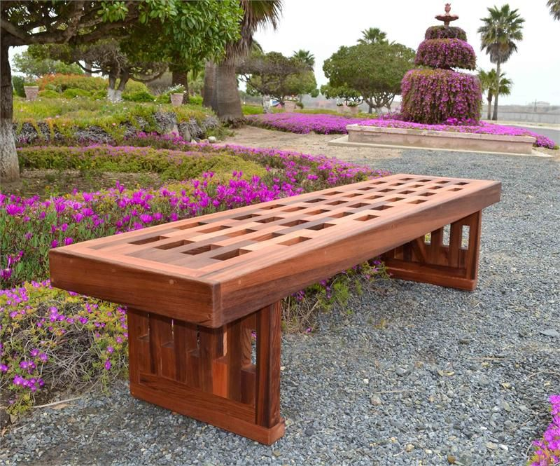 Garden Bench Plans | Redwood Lighthouse Garden Bench