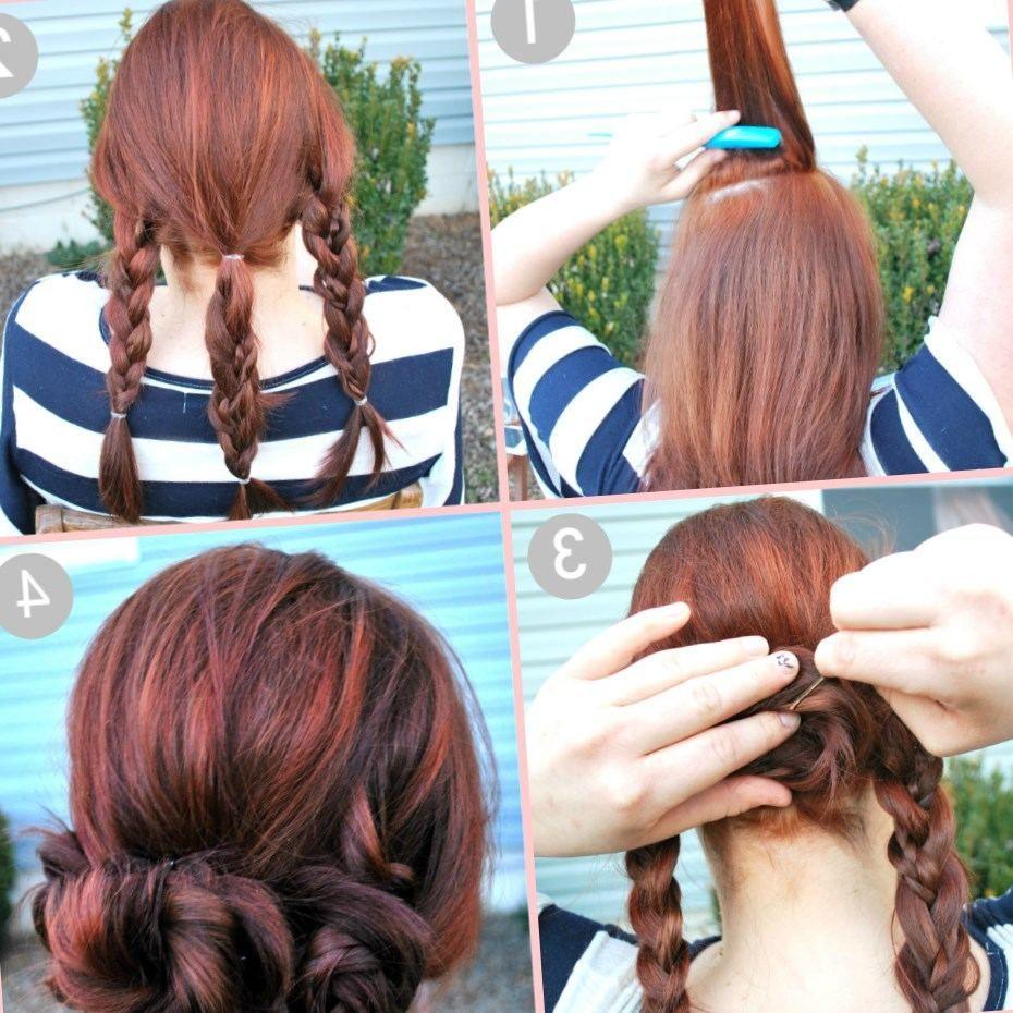 Tuto coiffure cheveux mi long: chignon bas soirée/mariage facile à faire soi m… | Coiffure ...