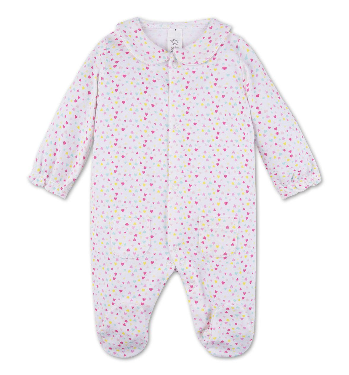 Baby-Schlafanzug aus Bio-Baumwolle in bunt