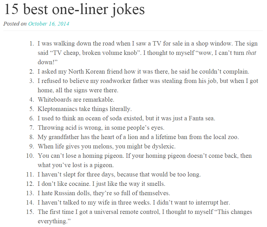 Hilarious Jokes Dirty One Liners