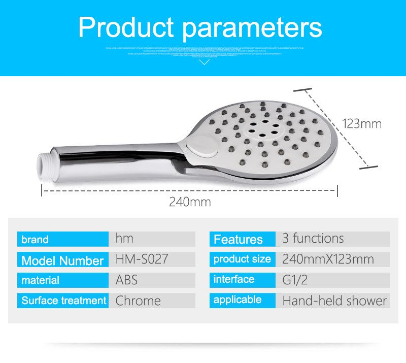 Hm New Design Big Size Abs Round Handheld Multi Function Plastic