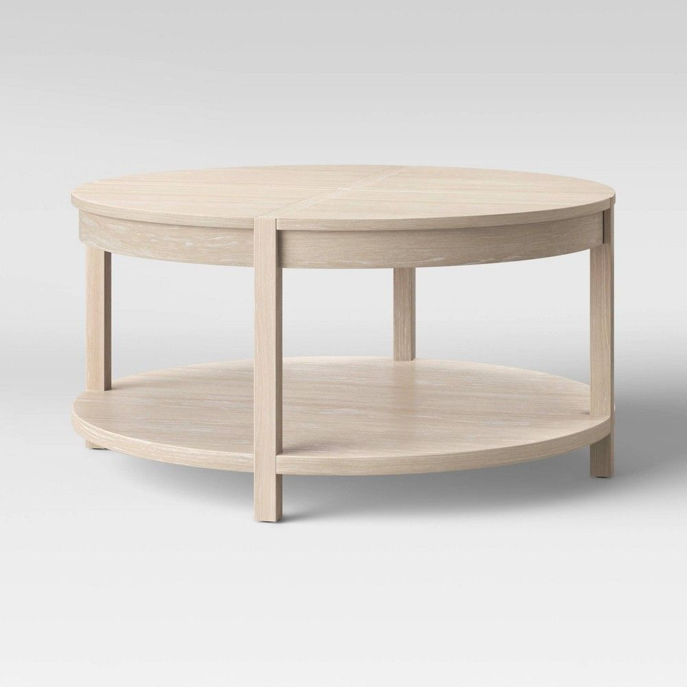 Porto Round Wood Coffee Table Bleached Wood Project 62 In 2021 Round Wood Coffee Table Coffee Table Coffee Table Wood [ 1000 x 1000 Pixel ]