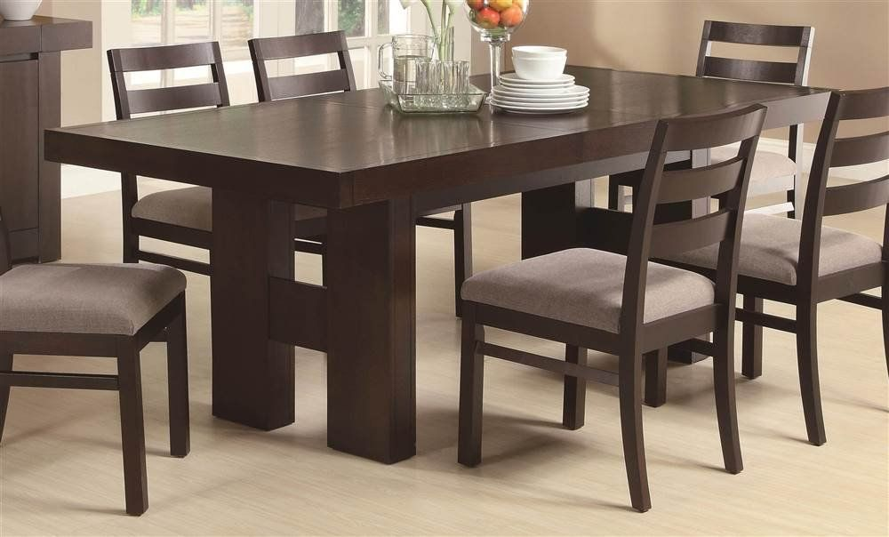 Coaster Home Furnishings Wood Dining Table Pull Out Extension Leaf