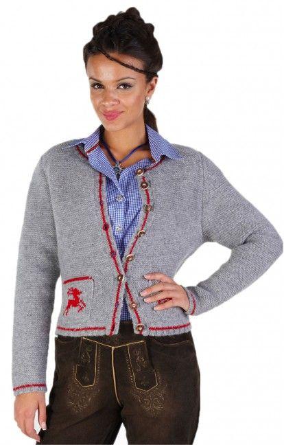 b4eb3147798739 Traditional Bavarian CARDIGAN Nola grey | Knitting etcetera ...