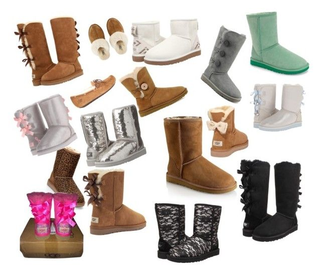 """All my UGGS"" by cheerlover05 ❤ liked on Polyvore featuring UGG, UGG Australia and Victoria's Secret"