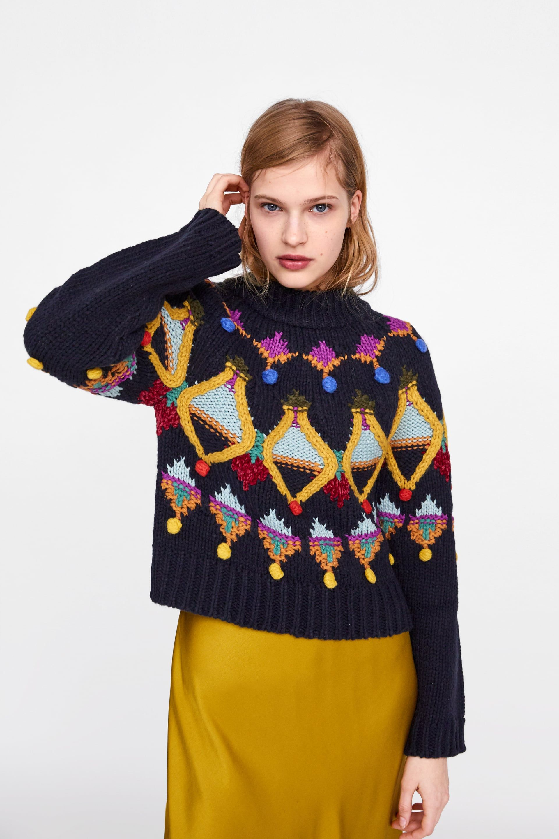 Yellow blouse Yellow sweater womens sweaters handmade knitting fashion knit blouse trendy sweater blue sweater gift for her embroidered