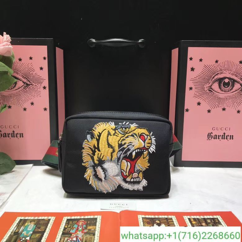 2c8556a77d80 Gucci Shoulder bag with panther face appliqué | gucci | Gucci ...