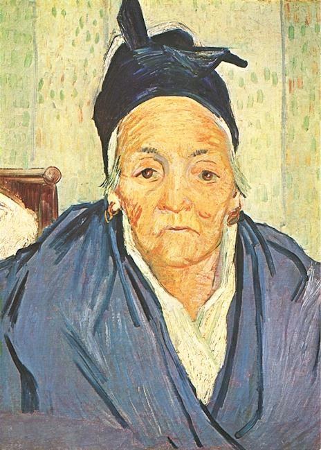 """Vincent Van Gogh - """"Vieille femme d Arles"""""""