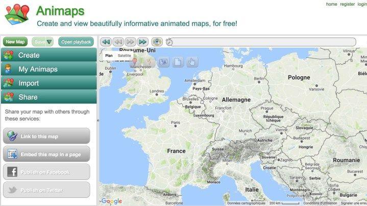 Carte Belgique Enseignement.Animaps Creer Des Cartes Geographiques Animees Outils Et